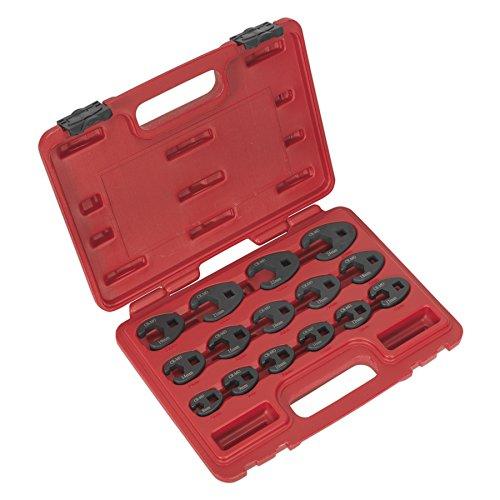 Sealey AK5983 - Juego de llaves de pata de gallo (mé tricas, 15 piezas)