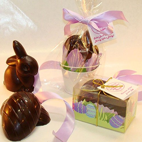 Creek House Organic Vegan Chocolate Easter Bunny and Egg Set