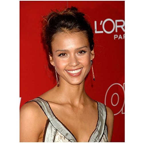 jessica-alba-8-x-10-photo-messy-updo-pretty-smile-red-loreal-paris-background-kn