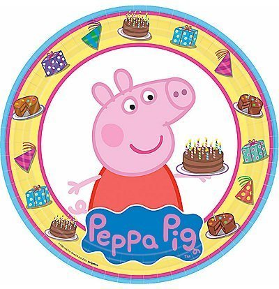 (Peppa Pig Lunch Plates 24-pack)