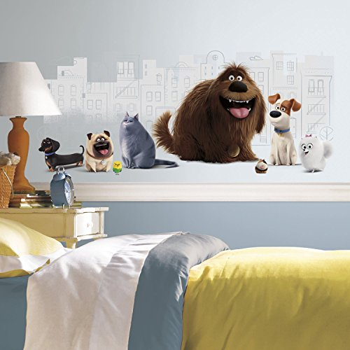 Pet Vinyl (RoomMates RMK3197GM Secret Life of Pets Peel and Stick Giant Wall Graphic)