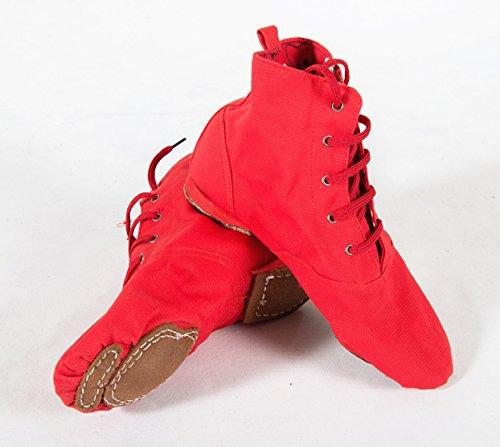 Lacets Femmes Jazz Chaussures Nous 4-10 Rouge