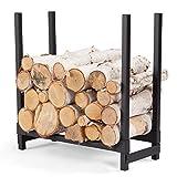 Fireside 2 Foot Firewood Rack in Black