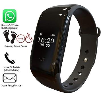 MRXUE Relojes Inteligentes Impermeable Monitor de Ritmo cardíaco para niños Mujeres Hombres Bluetooth podómetro para Android iOS Smartphone: Amazon.es: ...