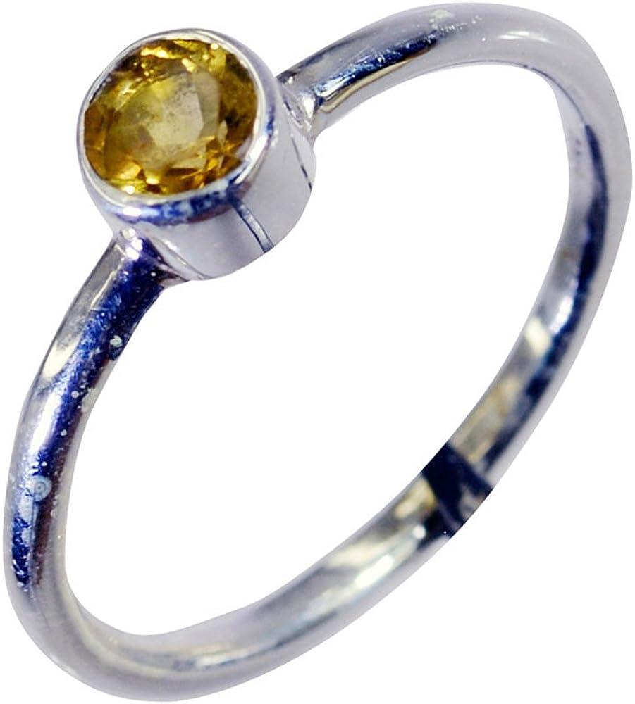 Gold Plated Wedding Ring GR1301 Details about  /925 Sterling Silver Citrine Gemstone Rose Gold