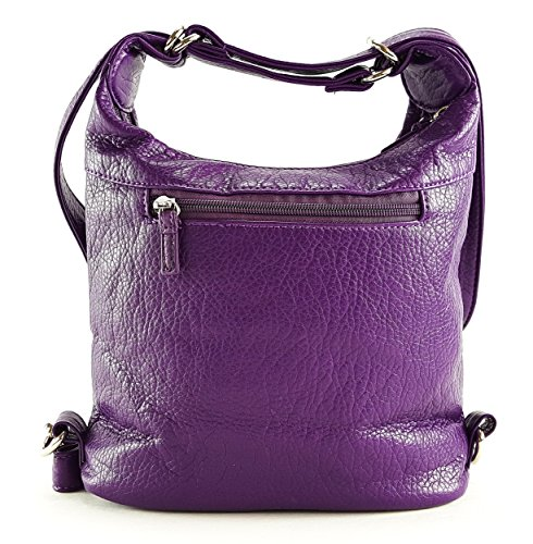 Shoulder in Purse and Purse Backpack Soft Butterfly King Vegan Mini Purple Leather Bag Convertible qznwB0R6