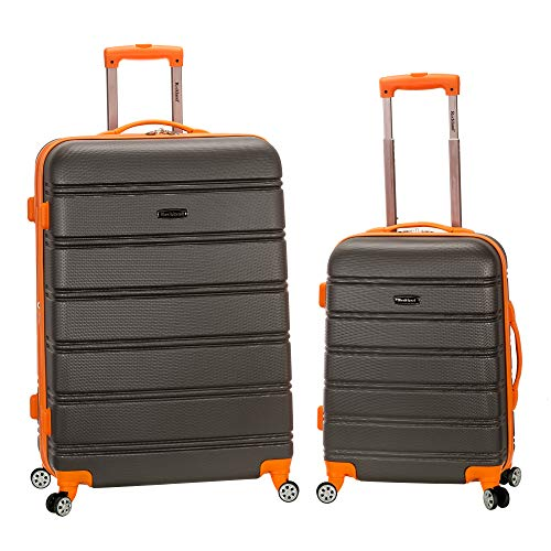 "Rockland 20"", 28"" 2pc Expandable Abs Spinner Set, Charcoal"