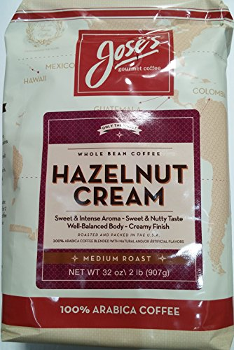 Jose's Hazelnut Cream 100% Arabica Whole Bean Coffee 32 oz
