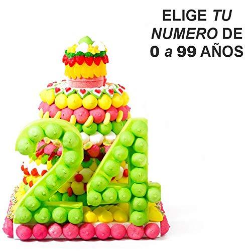 tarta cumpleaños con números de años: Amazon.es: Handmade
