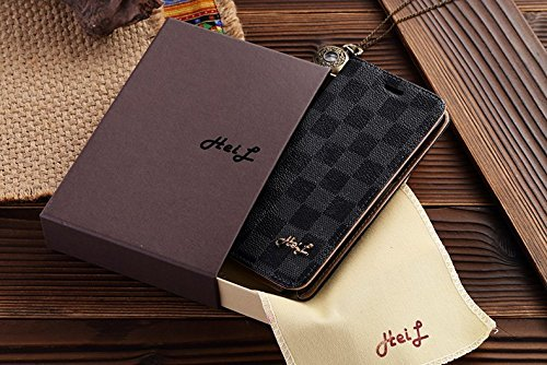 HeiL Note4 (Fast US Deliver Guarantee Fulfilled by Amazon) New Elegant Luxury PU Leather Checker Pattern Wallet Style Flip Cover Case For Samsung Galaxy NOTE 4 ONLY (Grey)