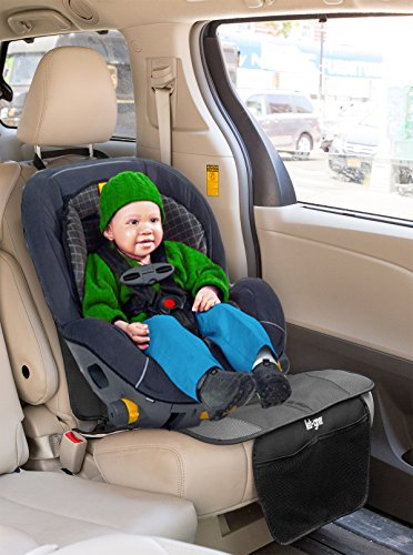 lebogner Car Seat Protector + Kick Mat Auto Seat Back Protector With 4 Organizer Pockets, Durable Quality Seat Covers + Waterproof Kick Guards To Protect Your Leather And Upholstery Seats From Damage by lebogner (Image #3)
