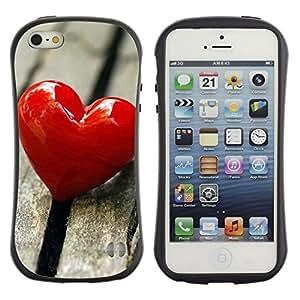 Suave TPU GEL Carcasa Funda Silicona Blando Estuche Caso de protección (para) Apple Iphone 5 / 5S / CECELL Phone case / / Love Heart & Wood /