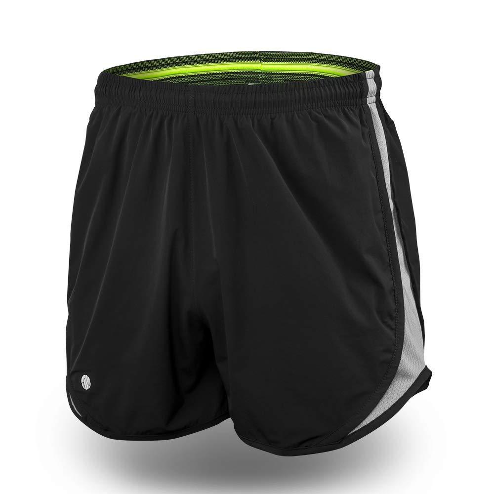 TALLA METRO. JBM Secretos Nova Pantalones Cortos de Entrenamiento Corrientes de los Hombres con Cremallera Bolsillo elásticos y de Secado rápido Pantalones Mesh