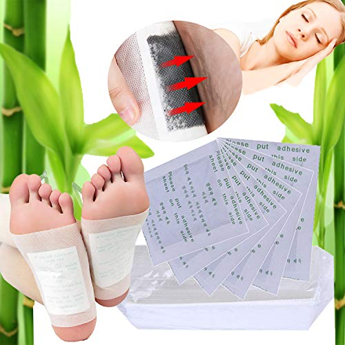 Foot Patch, Fascigirl 100pcs Bamboo Vinegar Natural Cleansing Foot Pads with Adhesive Sheet for Pain Relief Health Care…