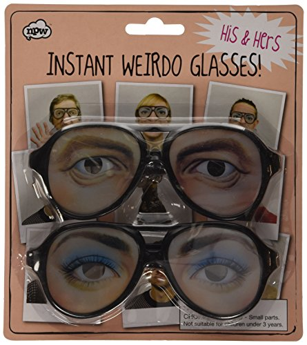 NPW Weirdo Glasses - His and Hers - Party Funny Eyes Fancy Dress 70s Crazy Shades]()