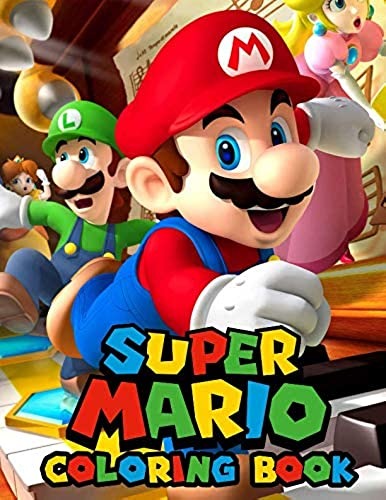 Mario Coloring Book For Kids Great Coloring Pages Ages 2 10
