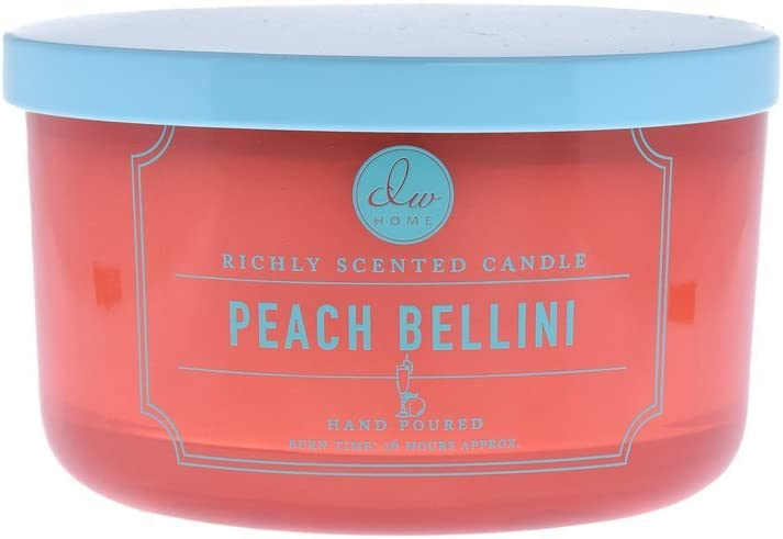 DW Home Signature Brights Candle Collection (Peach Bellini Triple Wick)