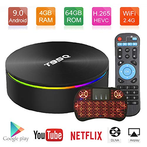 Android TV Box Android 9.0 OS Smart TV Box 4GB 64GB T95Q Support USB 3.0 BT 4.1 2.4G- 5G Dual-Band Wi-Fi 3D 4K Full HD H…