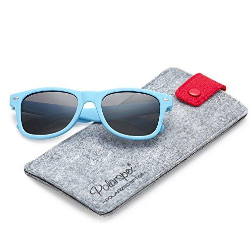 POLARSPEX KIDS TODDLER POLARIZED RUBBERIZED SOFT CAROLINA BLUE UNISEX - Protection Toddler Sunglasses Uv