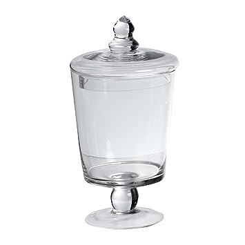 car bomboniere bonbonnire pied en verre avec couvercle cm de hauteur transparent with maison du. Black Bedroom Furniture Sets. Home Design Ideas
