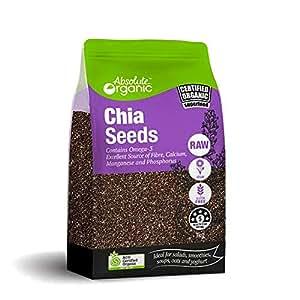 Absolute Organic Black Chia Seeds, 1 kg