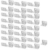 uxcell 25mmx25mmx37mm Stainless Steel Right Angle Bracket Corner Brace Fastener 50pcs