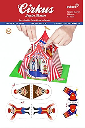 Forum Traiani Bastelvorlage Zirkus Manege Papiertheater Pukcaka