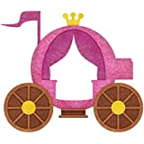 My Wonderful Walls Royal Carriage Wall Decal Sticker, Right-Facing, Pink/Gold/Brown