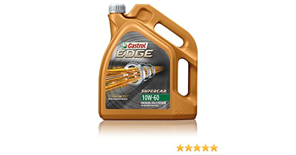 Castrol 1595CE Edge Supercar aceites lubricantes 10W-60 5L: Amazon.es: Coche y moto