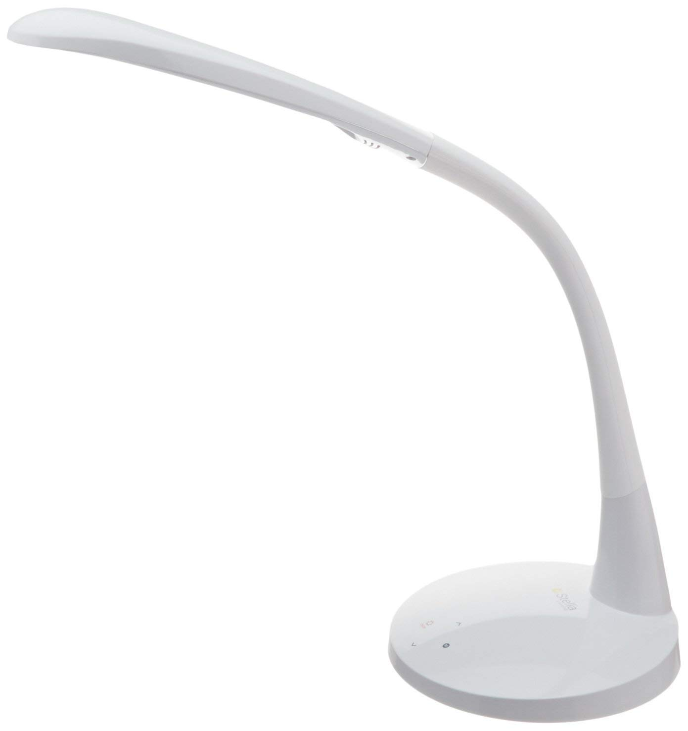 Stella Original Premium LED Desk Task Lamp (White, 10W) Doctor Prescribed Low Vision Tri Color Spectrum Desk Light with 5 Dimming Options - Home or Office Sunlight Lamp for Arts & Crafts, Dry Eye by Stella Lighting