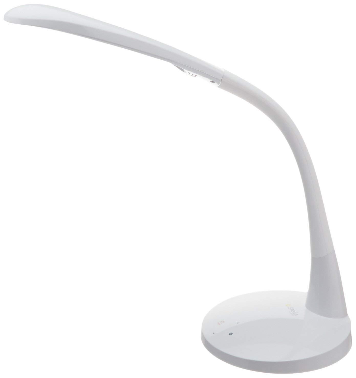 Stella Lighting Stella Original LED Desk Lamp (White) | Hobby, Arts and Crafts, Vision Aid Task Light | Bright Tri-Color Natural Sunlight Mode, Dimming, Flex Arm, No Bulb, 10W