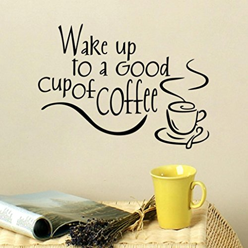 Wall Stickers,Baomabao Coffee Art Decal Vinyl Wall Stickers Kitchen Restaurant Pub Decor (Price Is Right Halloween Special 2017)