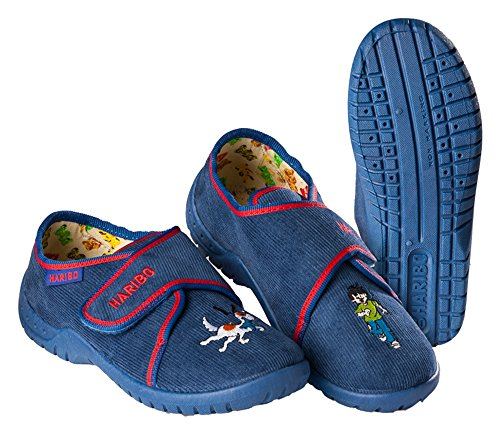 Pantoffeln Hausschuhe HARIBO Mädchen Jungen blau Größe: 25 - 35 (29)
