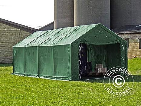 Dancover Carpa Grande de almacén Pro 4x8x2, 5x3, 6m, PVC, Verde: Amazon.es: Jardín