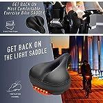 Daskoo-Uomo-Donna-Sella-Bici-Memory-Foam-Imbottito-in-Pelle-Ampio-Cuscino-da-Sella-per-Bicicletta-Impermeabile-Doppia-Molla-Progettato-Morbido-Traspirante