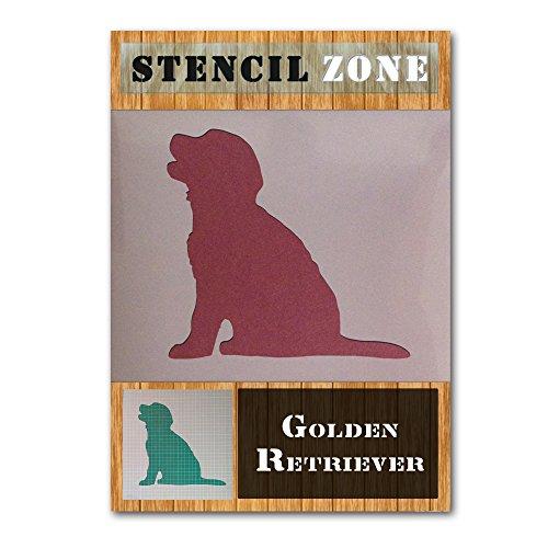(Golden Retriever Puppy Mylar Painting Wall Art Stencil Home Decor DIY Art Crafts (A4 Size Stencil - Small))