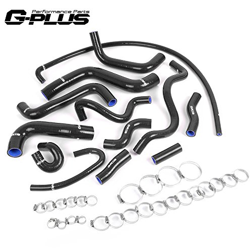 13 PCS Silicone Radiator Hose Kit Clamps For VW GOLF/JETTA MK2 1.8 8V Left Hand Drive PB Engine(Without Air Conditioning)
