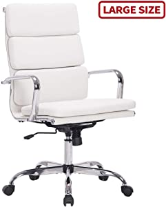 Sidanli White Ergonomic Office Chair for Company or Home.