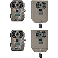 Stealth Cam 10 MP HD No Glow Scouting Game Trail Camera, 2 Pack + Security Boxes