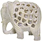 Sale on Statue - Mom and Me - Mother Elephant with Baby Inside - 5 Inch Stone Elephant Decor Statue Impossible Hand-Carved Stone Art Sculpture Figurines/Centerpiece