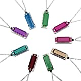 Mini Harmonica Necklace - Adorable Kids and Adult Mini Harmonica Necklace Music Party Favor, 9 pcs Cute Mini Harmonica 4 Hole 8 Tone Necklace