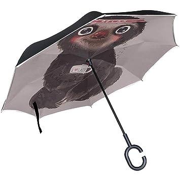 Paraguas invertido Perezoso Reverse Auto Open de Doble Capa a ...