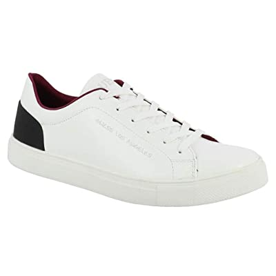 b3cfbb09a7700e #Guess Luiss Blanc Rouge Cuir Hommes Formateurs Chaussures