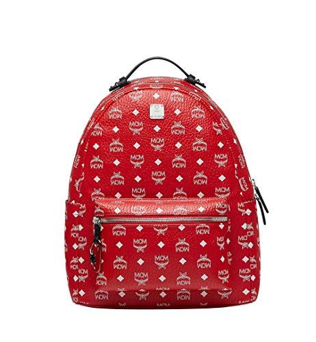 MCM PROJECT (RED) Logo Backpack, Viva Red / White Logo, Medium