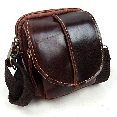 Large Messenger Vintage Sucastle Leather Capacity Shoulder Bags Briefcases Men's Design 1 n844wqaROx