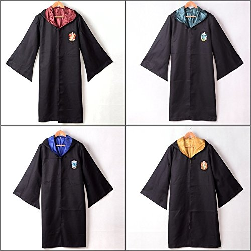 yxying Adult Harry Potter Gryffindor/Slytherin/Hufflepuff/Ravenclaw Robe/Cloak/Cape Cosplay Costumes