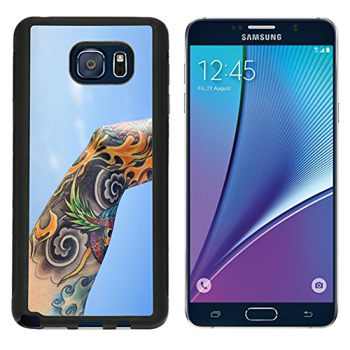 MSD Premium Samsung Galaxy Note 5 Note5 Aluminum Backplate Bumper Snap Case IMAGE ID: 2174141 Close up of tattooed woman s arm with Pacific Ocean in background in Maui Hawaii USA