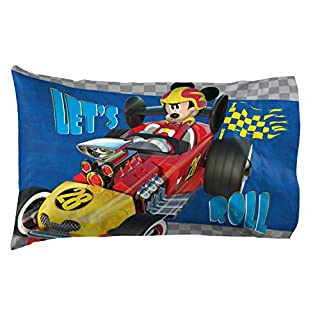 """Jay Franco Disney Junior Mickey Mouse and The Roadster Racers 20"""" x 30"""" Reversible Pillowcase"""