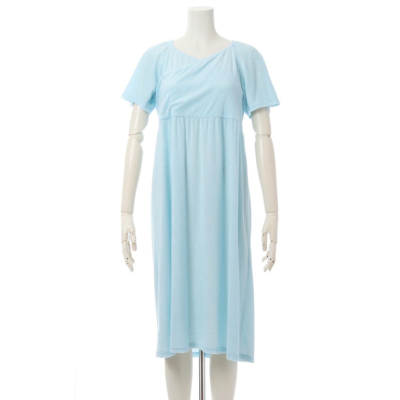 (キッドブルー) KID BLUE 半袖ワンピース[17ガーゼパイル] B071F4BNJM  サックス M(レギュラー)