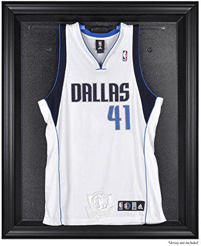 Dallas Mavericks Brown Framed Logo Jersey Display - Browns Case Display Logo